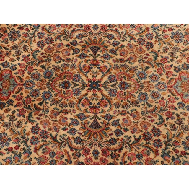 "Late 20th Century Late 20th Century Karastan ""Kirman"" Persian-Style Wool Rug-11′5″ × 20′ For Sale - Image 5 of 13"