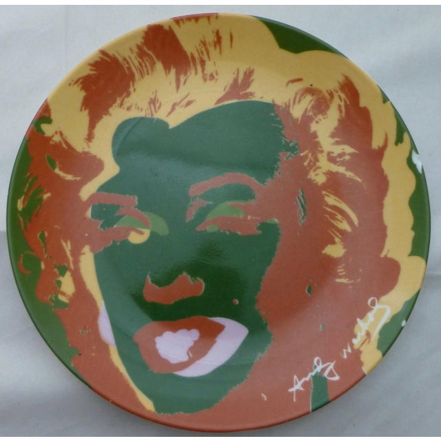 Mid-Century Modern Andy Warhol Marilyn Monroe Dinner Plates - Set of 5 For Sale - Image 3 of 11
