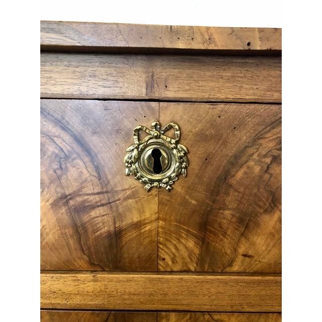 Louis XVI Period 3 Drawer Mahogany Chest For Sale - Image 9 of 10