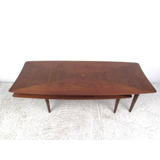 1970s Vintage Modern Two-Tier Pivot Coffee Table For Sale - Image 5 of 11