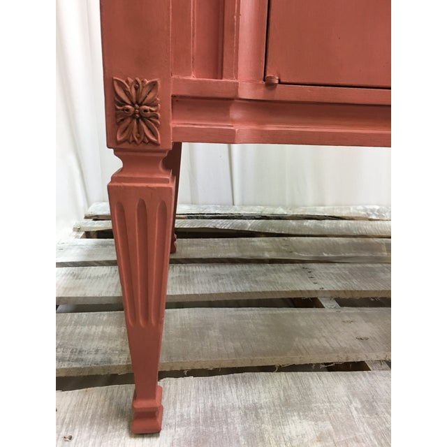 Scandinavian Pink Italian Marble Top End Table For Sale In Houston - Image 6 of 10