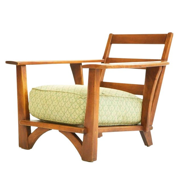 Herman DeVries Paddle-Arm Lounge Chair For Sale