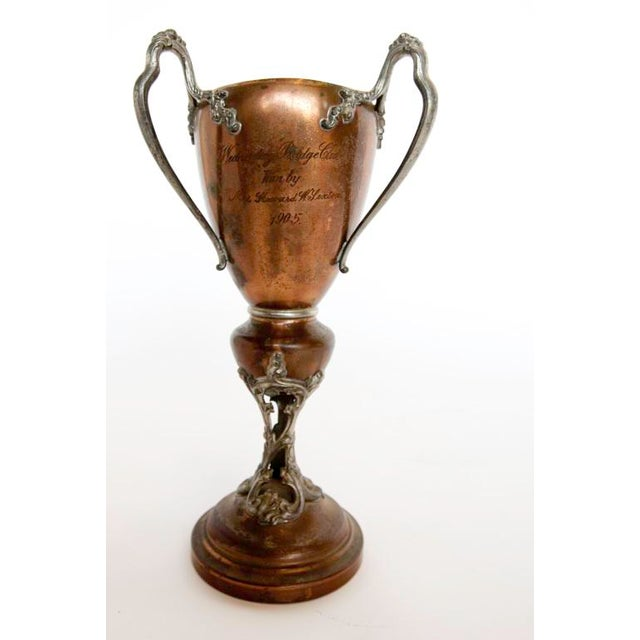 1900's Copper Loving Cup with decorative handles.