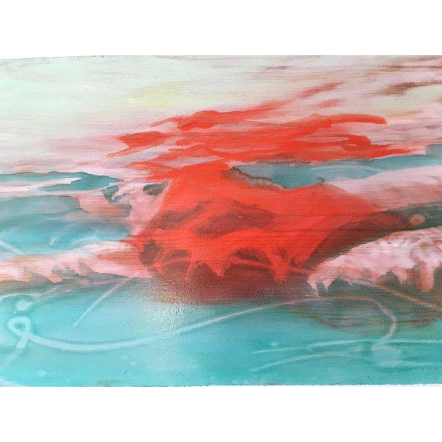 Suspense Study 2017 is a figurative swimmer artwork. It is a work on paper with hand painted wood grain on the paper. It...