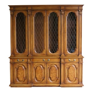 Karges Breakfront China Cabinet For Sale