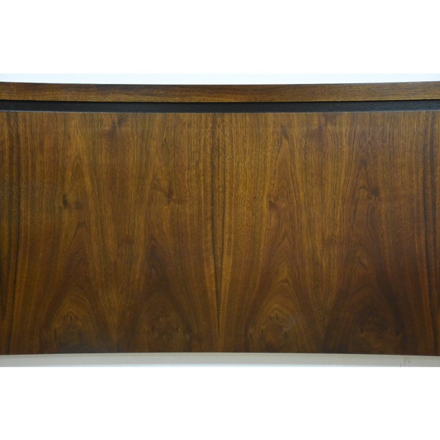 Mid-Century Modern Queen Size Walnut Headboard - Image 4 of 7