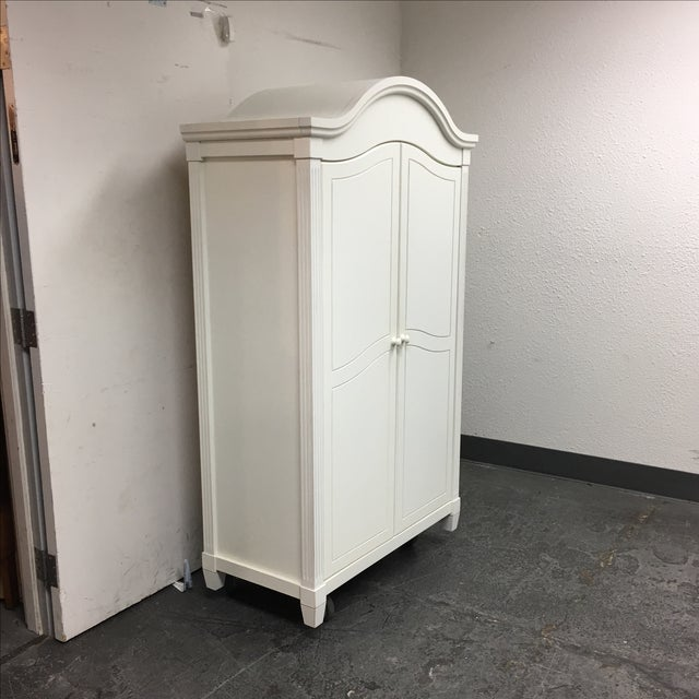 White Cottage Style Armoire - Image 3 of 8