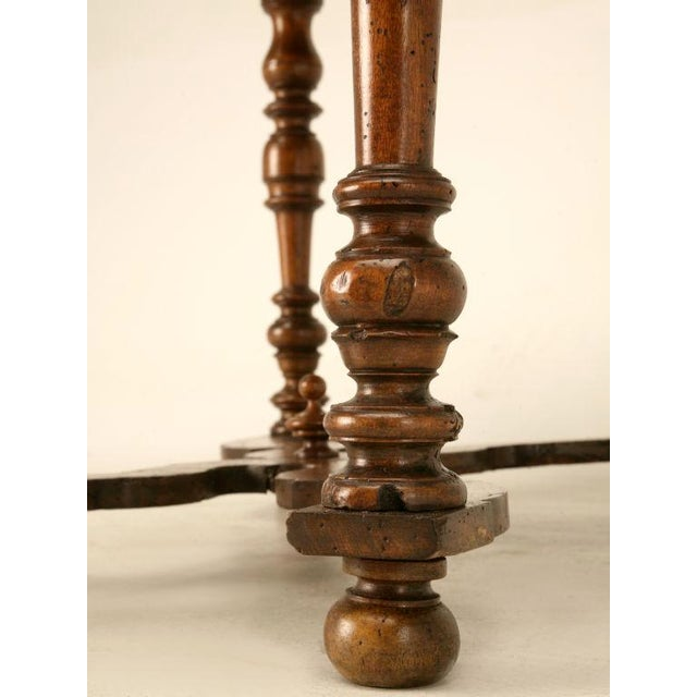 Brown 18th C. Antique French Fruitwood Writing Table For Sale - Image 8 of 11