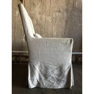 Modern Belgian Track Arm Slipcovered Natural Linen Armchair Preview