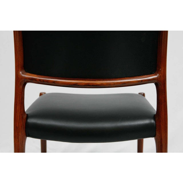 Set Of 6 Rosewood Niels Moller Dining Chairs For Sale - Image 9 of 9