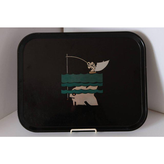 Machine Age Art Deco Micarta Tray Set by George Switzer for Westinghouse For Sale In Dallas - Image 6 of 11