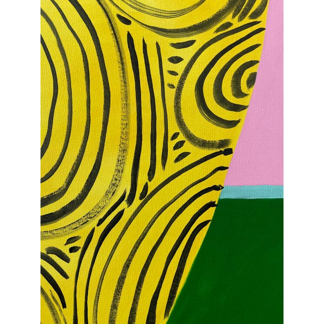 "Abstract ""Yellow Vase"" Original Acrylic Painting For Sale - Image 3 of 5"