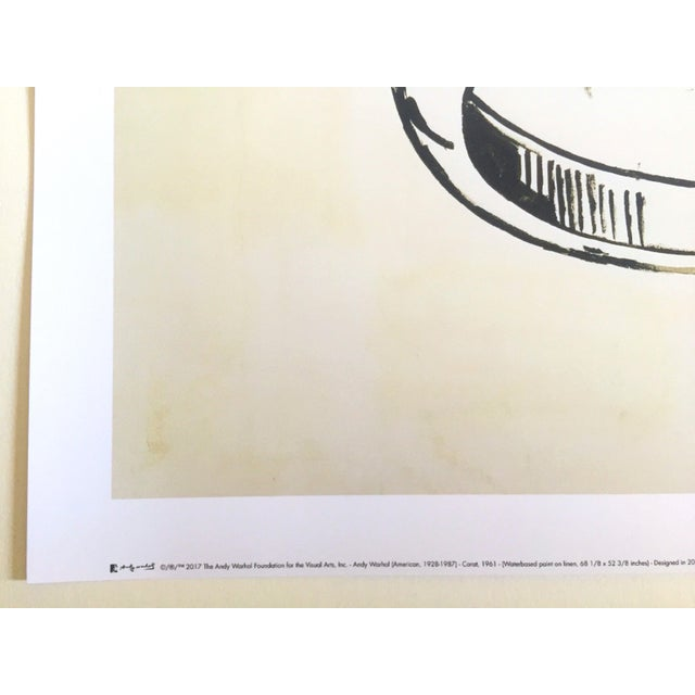 "Black Andy Warhol Foundation Lithograph Print Pop Art Poster "" 1 Carat Happiness "" 1961 For Sale - Image 8 of 11"