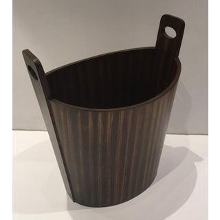 Global Views Modern Zebra Wood Wastbasket Preview