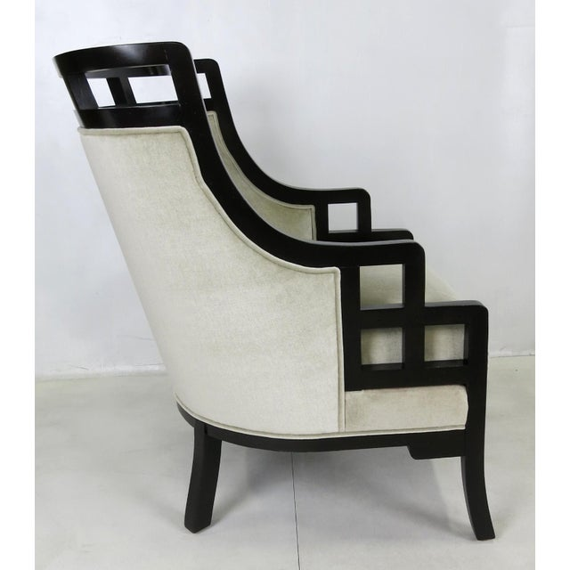 """Jay Spectre """"Wallis Simpson"""" Lounge Chair and Ottoman by Jay Spectre For Sale - Image 4 of 6"""