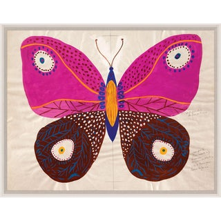 Paule Marrot, Butterfly Pink, Framed Artwork For Sale