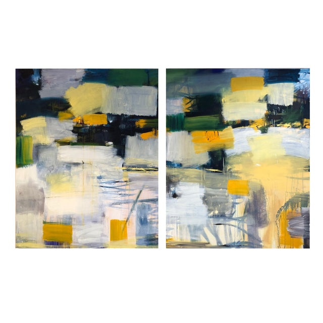 2010s Original Diptych Painting - 2 Pieces For Sale - Image 5 of 5