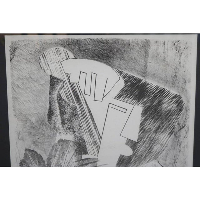 Mid-Century Modern Abstract Portrait Lithograph by David Segel For Sale - Image 3 of 7