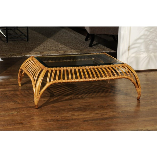 Unique Restored Tiara Coffee Table by Henry Olko for Willow and Reed, Circa 1979 For Sale - Image 9 of 13