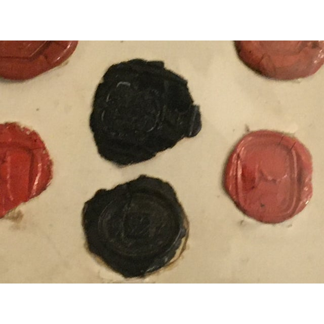 Antique English 29 Red and Black Intaglios Wax Seals For Sale - Image 11 of 12