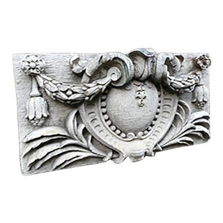 Early 20th Century Neo Baroque Style Terra Cotta Plaque For Sale