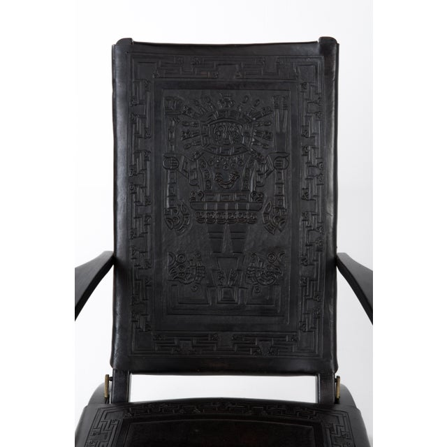 Black 1970s Vintage Angel I. Pazmino for Muebles De Estilo Leather Armchairs- A Pair For Sale - Image 8 of 13