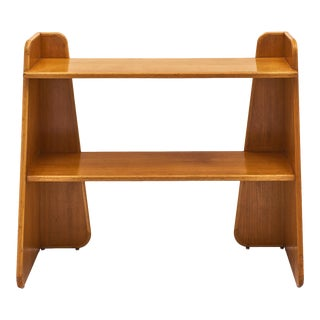 French Modernist Oak Console For Sale