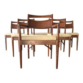 Mid-Century Modern Martinsville Sculptural Cane Back Dining Chairs - Set of 6 For Sale