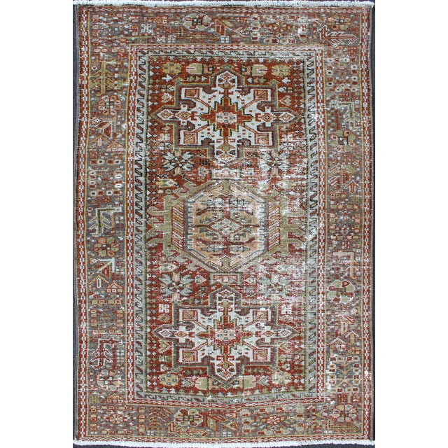 1930s Semi Antique Karadjeh Rug - 2′11″ × 4′5″ For Sale - Image 11 of 11