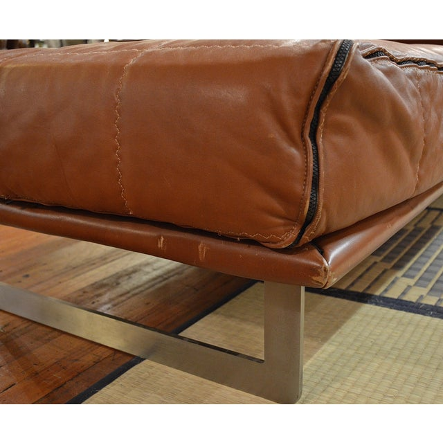Mid Century Italian Modernist Faux Leather Daybed For Sale - Image 10 of 13