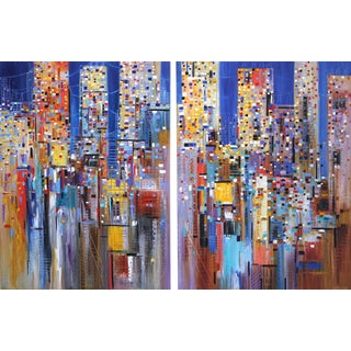 """""""A Dreamy Skyline"""" Original Artworks by Ekaterina Ermilkina For Sale"""