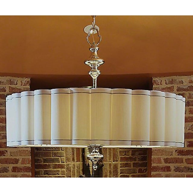 Modern Global Views Enormous Fluted Pendant Chandelier For Sale - Image 3 of 4