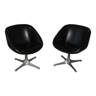 Mid-Century Swivel Pod Chairs - A Pair For Sale