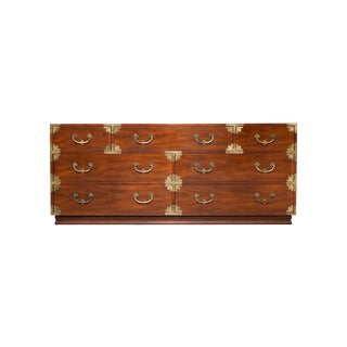 1970s Campaign Long Chest of Drawers For Sale