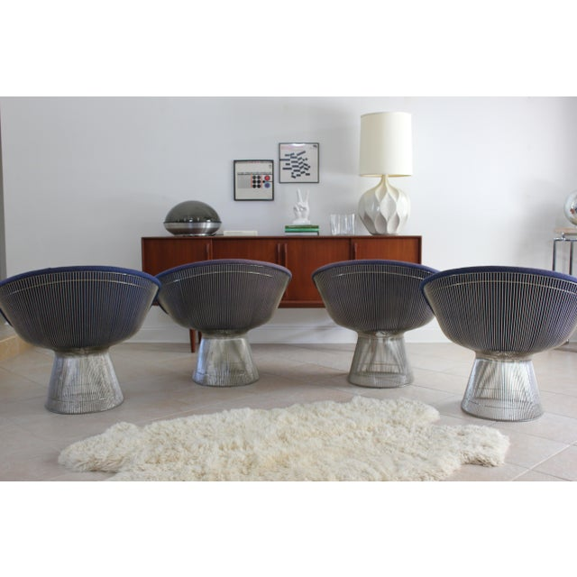 Mid-Century Modern Warren Platner for Knoll Lounge Chairs - a Pair For Sale - Image 9 of 11