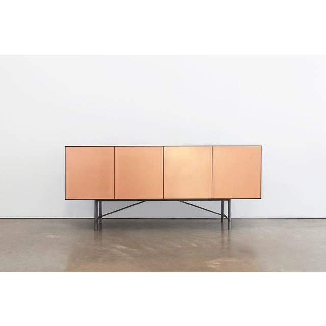 Bronze Connect Credenza Sideboard Customizable in Steel and Polished Bronze For Sale - Image 7 of 8