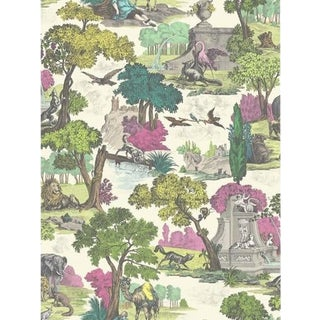 Cole & Son Versailles Grand Wallpaper Roll - Pink For Sale