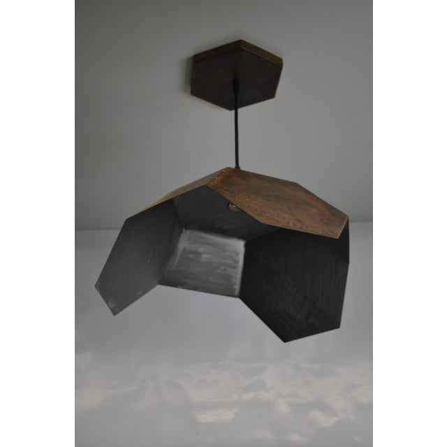 Oblik Studio Ceiling Antic Steel Pendant Light For Sale - Image 4 of 7