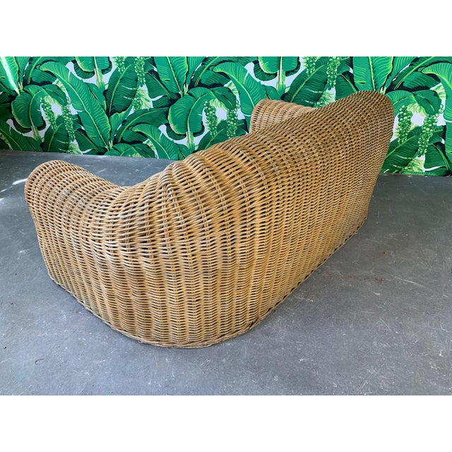 Sculptural Wicker Sofa in the Manner of Michael Taylor For Sale - Image 9 of 11