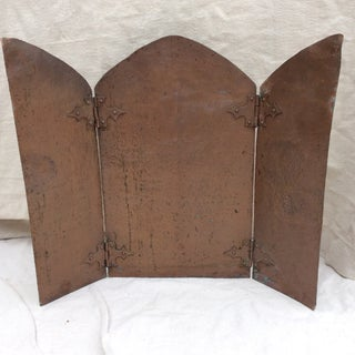 Antique Hammered Copper Folding Screen Preview