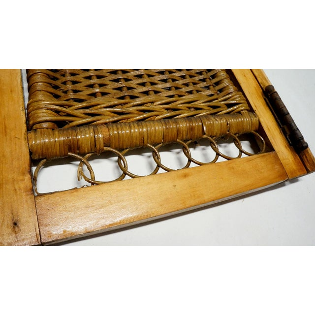 Vintage Mid Century Wicker Shutters- Set of 4 For Sale - Image 6 of 7
