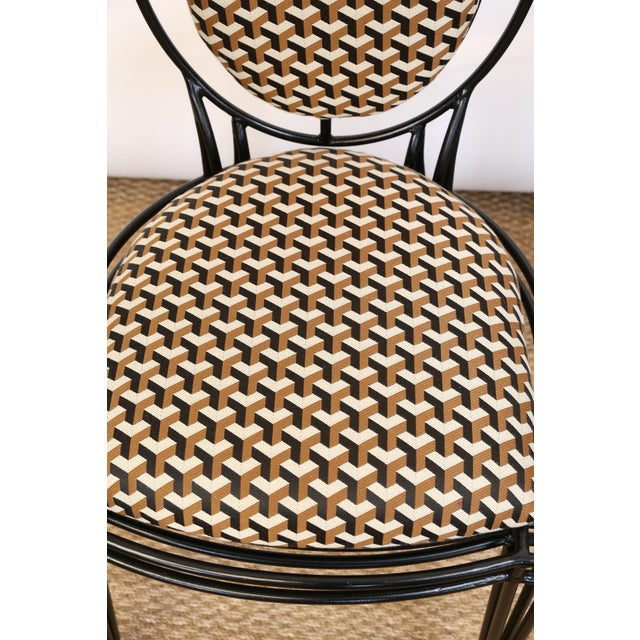 Upholstered Oval Back Chairs - a Pair For Sale - Image 4 of 8