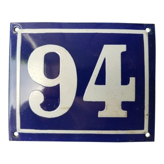 French Enamel House Number Many Available For Sale