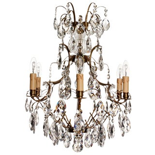 Baroque Style Electric Candle Chandelier For Sale