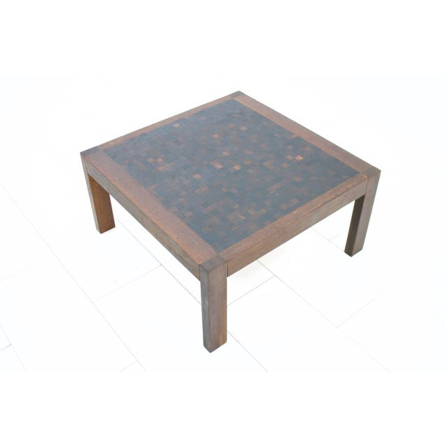 Mid-Century Modern Dieter Waeckerlin Mosaik Coffee Table in Wenge, Switzerland, 1960s For Sale - Image 3 of 5