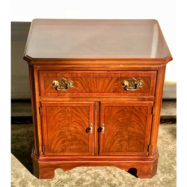 Drexel Heritage Chippendale Cherry Wood Nightstand For Sale - Image 10 of 10