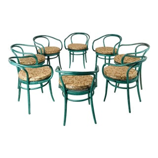 Set of 8 Thonet Bentwood Dining Chairs For Sale