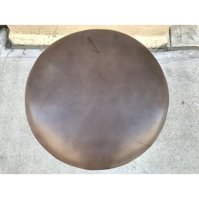 Mid-Century Modern Sculptural Wrought Iron Stool For Sale - Image 3 of 4