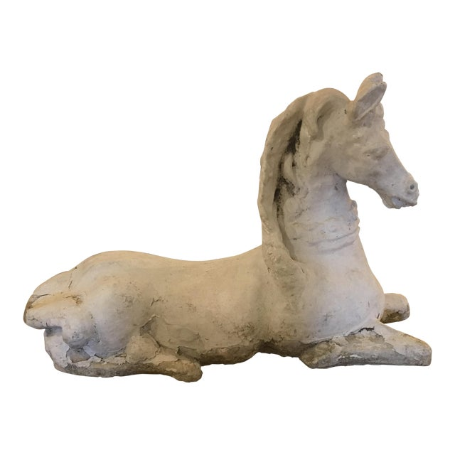 French Concrete Horse - Image 1 of 8