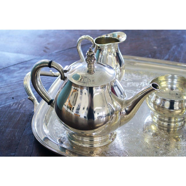 Sterling International Tea Set (6pc.) Royal Danish Pattern For Sale In New York - Image 6 of 7
